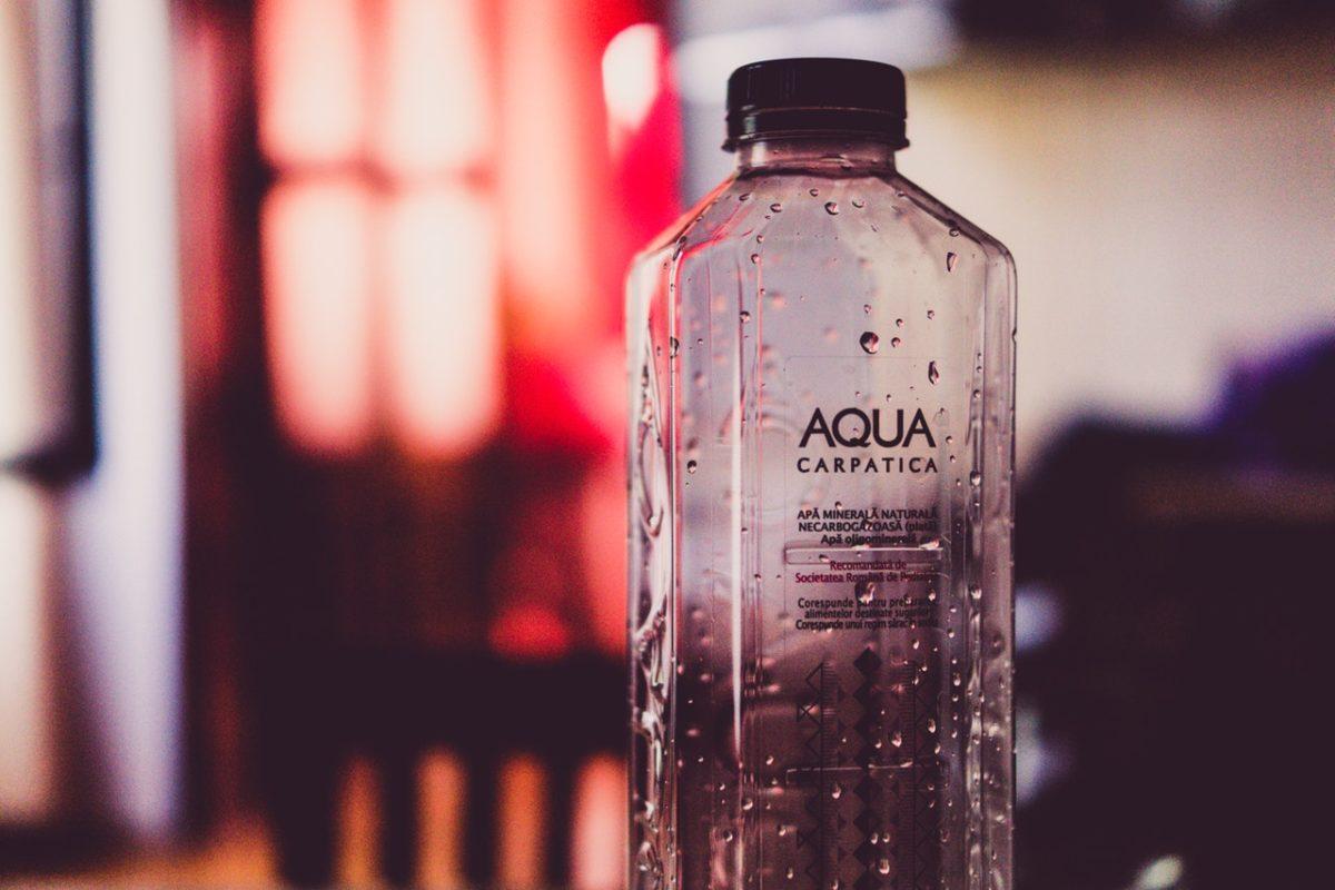 a branded water bottle