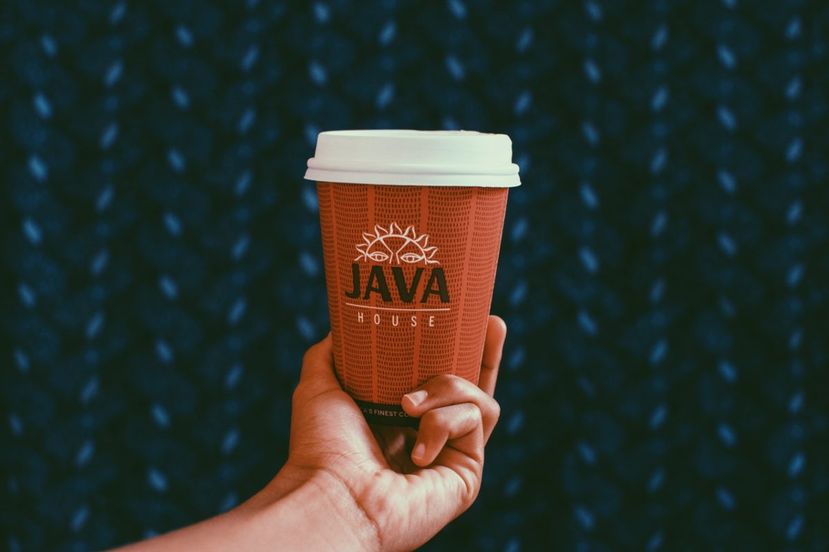a branded java cup