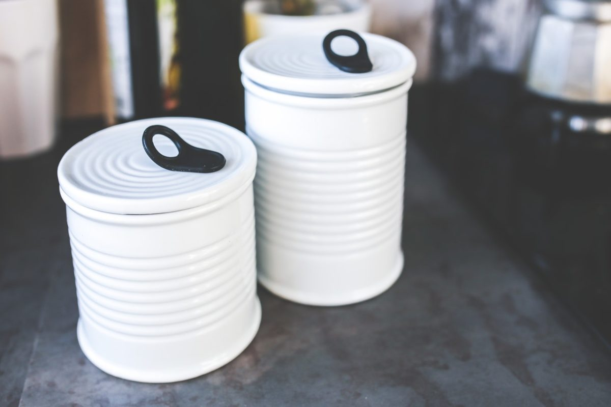 white cans