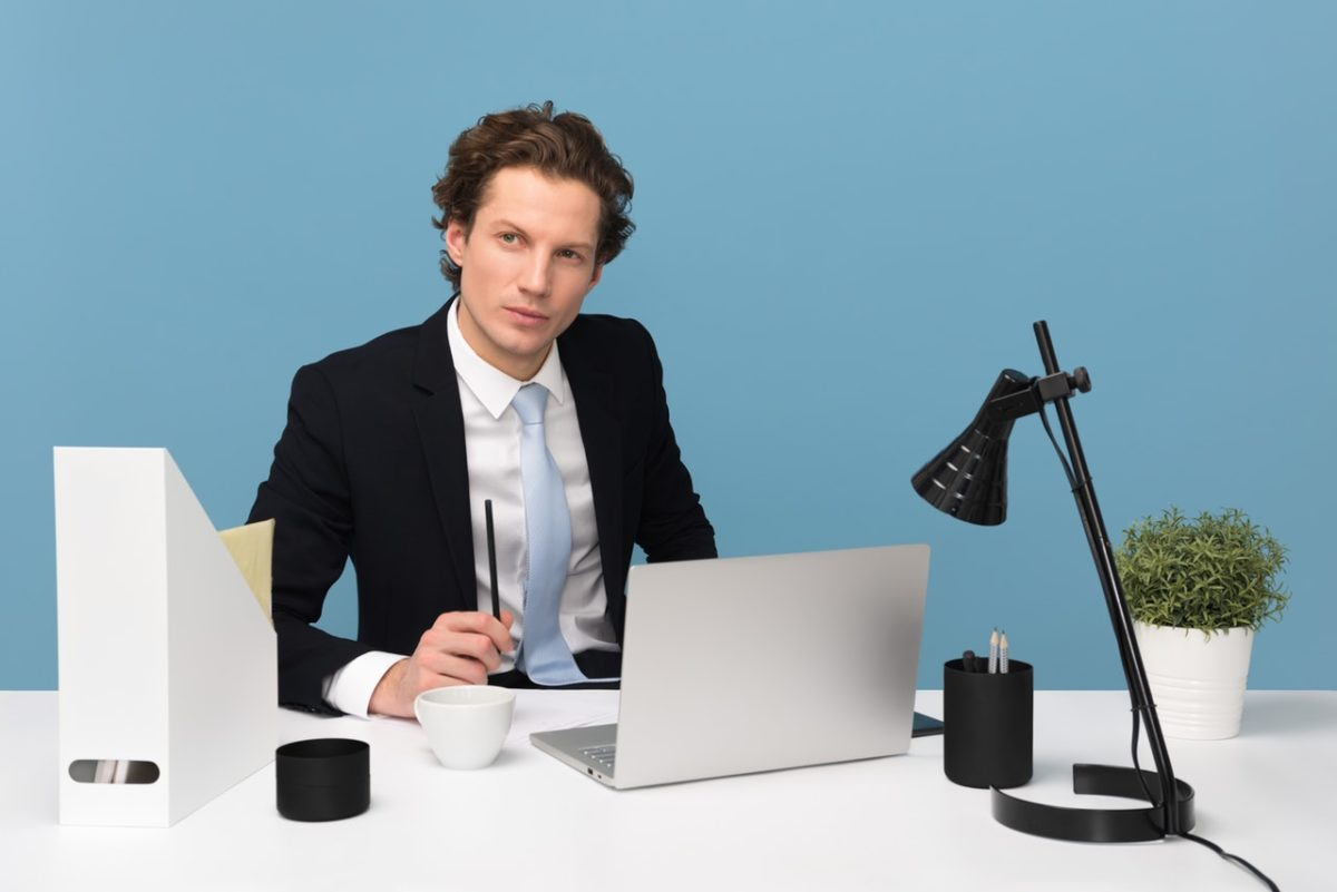 man in a suit sitted