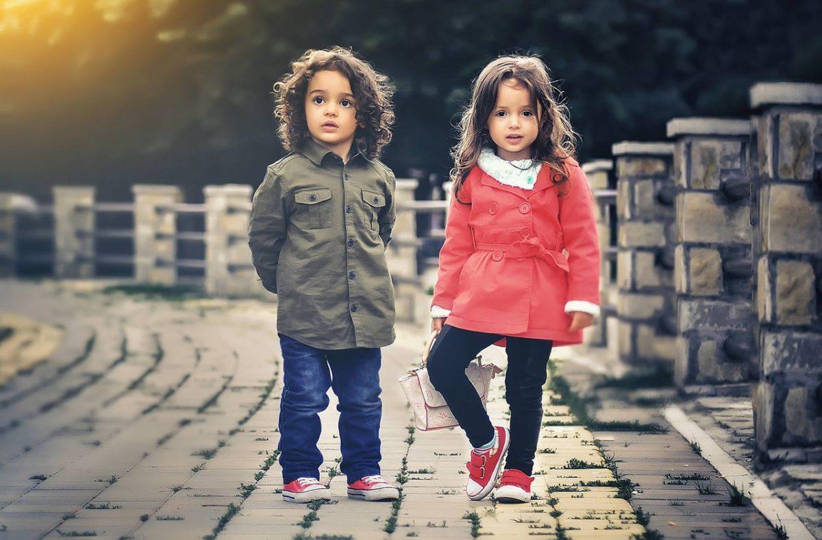 kids standing
